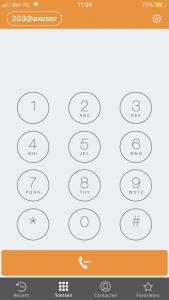 Axeos Phone startscherm